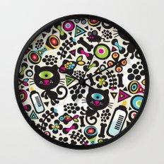 Black cats. Wall Clock