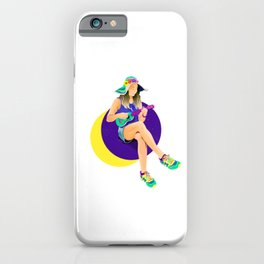 Pearl of Saturn girl by #Bizzartino iPhone Case