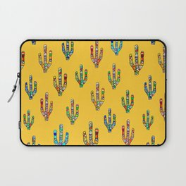 Mosaic Cacti on Yellow Laptop Sleeve