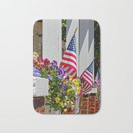 Flags & Flowers Bath Mat