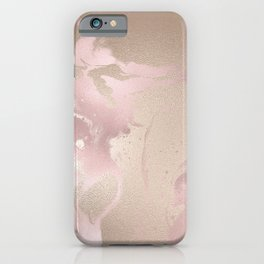 Rosegold & Gold iPhone Case