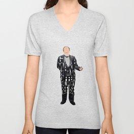 The Godfather Inspired Don Vito Corleone Typography Artwork Unisex V-Neck