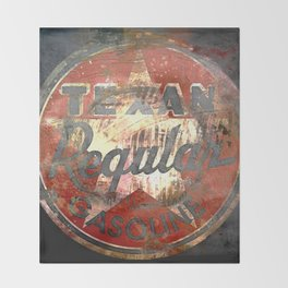 Texan - Vintage Label Throw Blanket