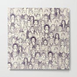 WOMEN OF THE WORLD PURPLE Metal Print