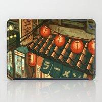 ramen iPad Cases featuring Ramen in the Alley by Kerri Aitken