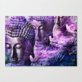 Buddhas purple Canvas Print