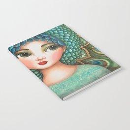 Peacock girl Notebook