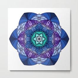 [Mandala] Cool Hues Metal Print