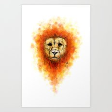 Gesture Lion with Mane Art Print