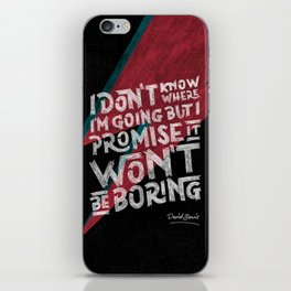 Bowie Promise iPhone Skin