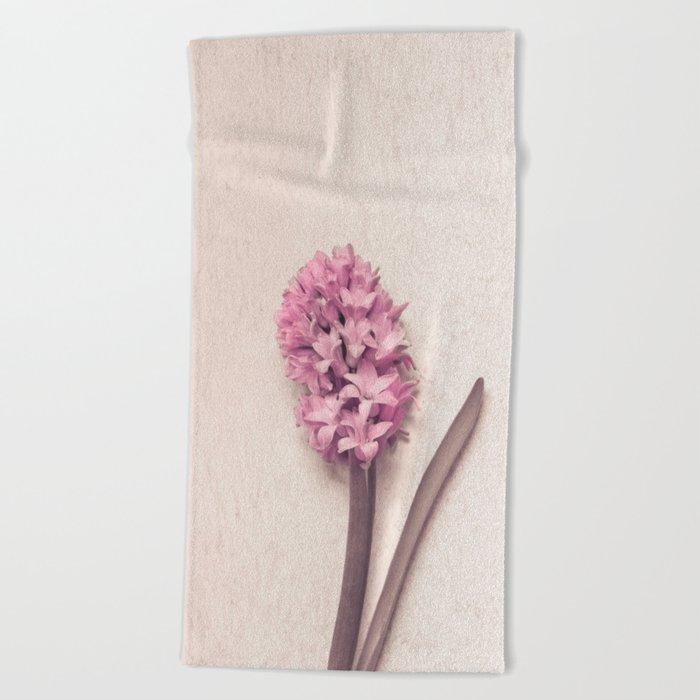 Pink Hyacinth Beach Towel