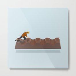 Skateboarding chocolates Metal Print