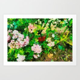 Garden in Blois Art Print