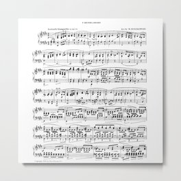Mendelssohn Classical Sheet Music Metal Print