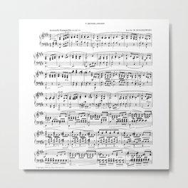 Mendelssohn Classical Sheet Music Metal Print