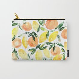 Sicilian orchard: lemons and oranges in watercolor, summer citrus Carry-All Pouch