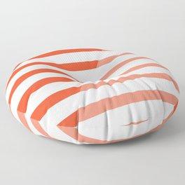 Beach Stripes Red Pink Floor Pillow