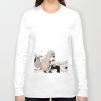 doberman Long Sleeve T-shirts featuring Monsieur Doberman by Cassandra Jean