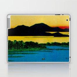 Hiroshige, Sunset Contemplative Landscape Laptop & iPad Skin