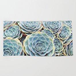 Succulent Garden Beach Towel