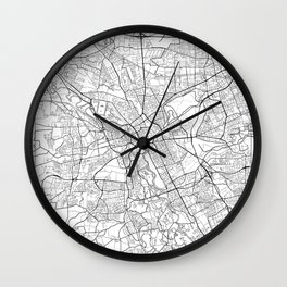 Hanover Map White Wall Clock