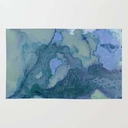 Ink in Blue and Green Rug