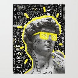 David sculpture modern design Poster