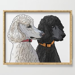 Pair of Poodles Serving Tray