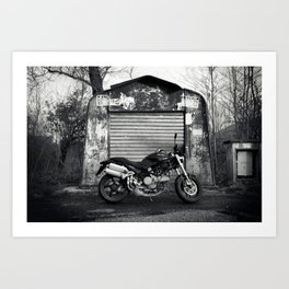 the monster and the hangar Art Print