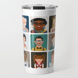 15 avatars characters Travel Mug