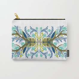 Floral Antlers – Earth Tones Palette Carry-All Pouch