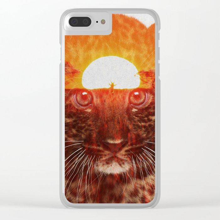 Leopard Cub Clear iPhone Case