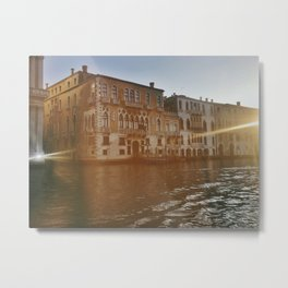 Light Leaks and the Grand Canal Metal Print