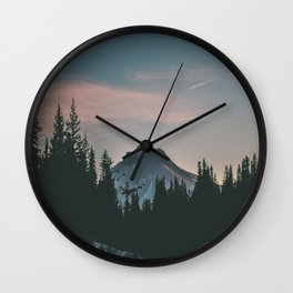 Frozen Mirror Lake Wall Clock