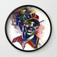 stevie nicks Wall Clocks featuring Stevie Kaleidoscope by kenmeyerjr