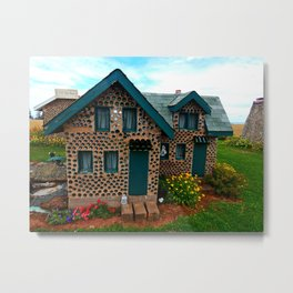 Green Gabled Bottle House Metal Print