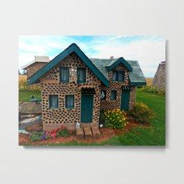 Green Gabled Bottle House Metal Print