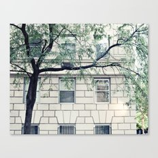 New York, NYC, Upper East Side on black and white Canvas Print