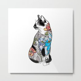 catin lotus tattoo Metal Print