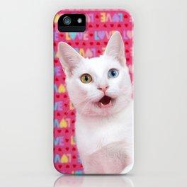 Happy Valentine's Day Kitten iPhone Case