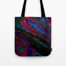 Dark Neon Marble Design Tote Bag