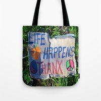 philosophy Tote Bags featuring Discarded Philosophy  by Gary Lee Hutchings