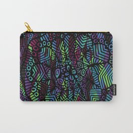 Purple and Green Doodle 14 Carry-All Pouch