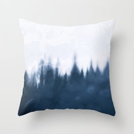 Frozen Forest Shadows 2 – Landscape Photography Throw Pillow