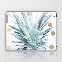 Pineapple crown - gold confetti Laptop & iPad Skin