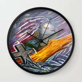 Siren of the storm Wall Clock