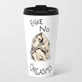Fake No Orgasms Travel Mug