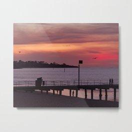 Sunset over Mount Eliza Metal Print