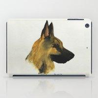 german shepherd iPad Cases featuring German Shepherd Dog by Armyhu