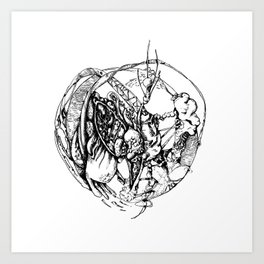 Heart of Chaos Art Print